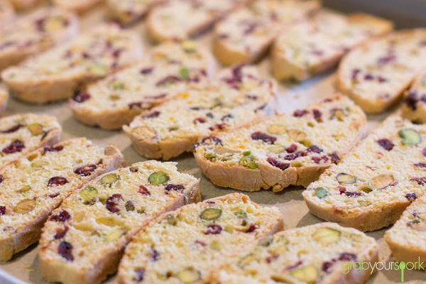 Cranberry and Pistachio Biscotti Second Bake