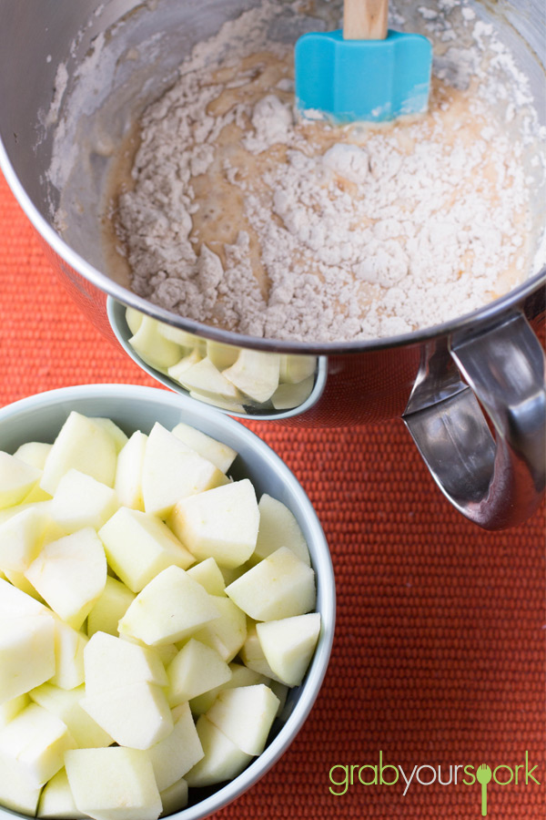 French Apple Cake Mixture and Apples