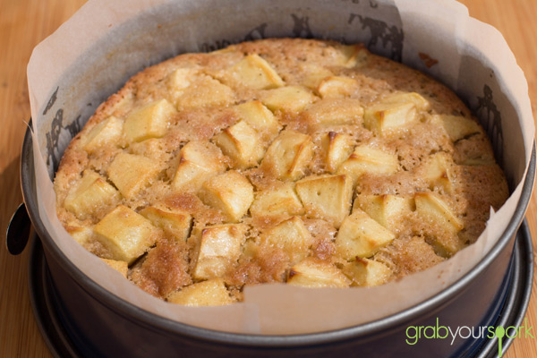 French Apple Cake in Tin