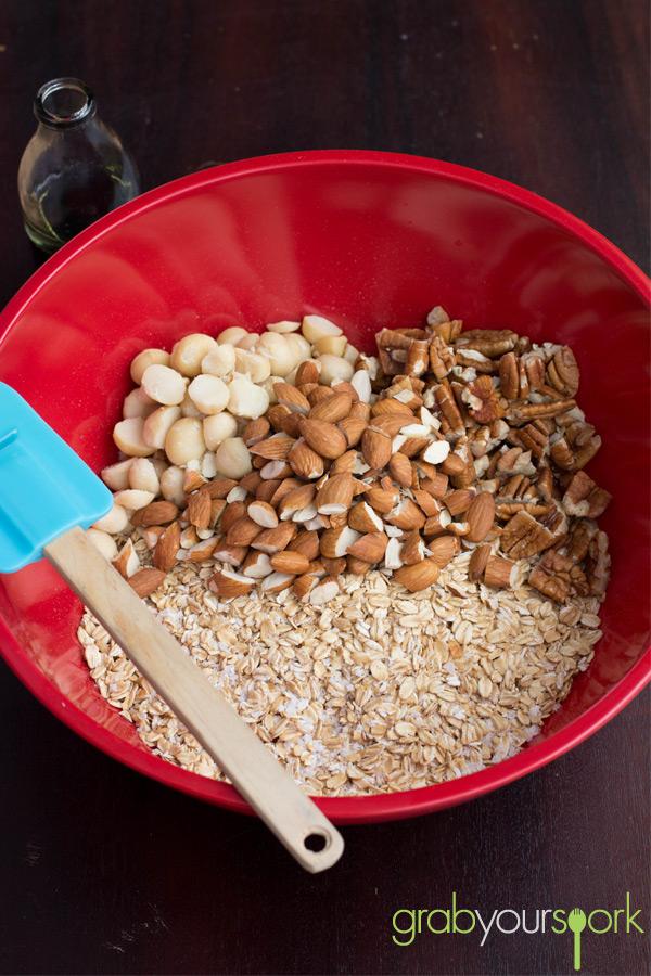 Maple Mixed Nut Granola Bowl