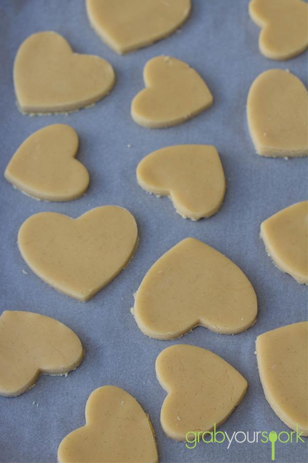 Love Heart Shaped Sugar Cookies