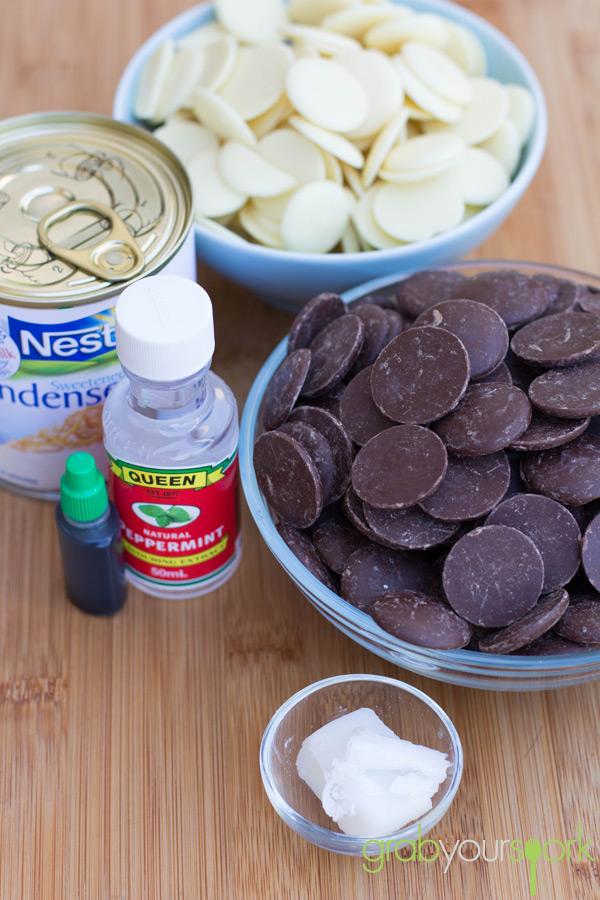 Choc Mint Fudge Ingredients