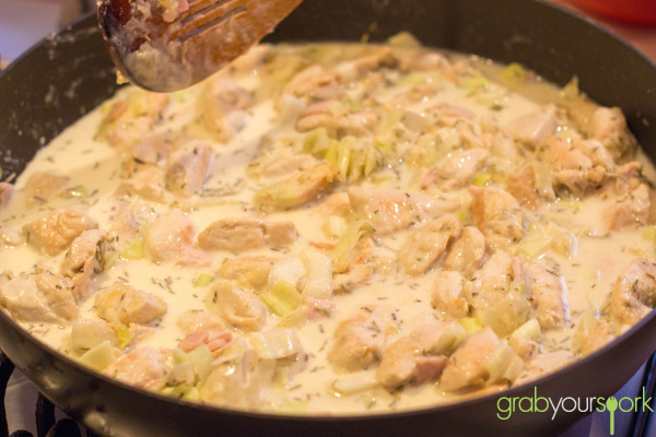 Chicken bacon leek and cream