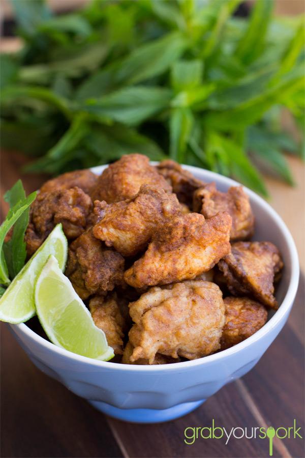 Bowl of Chicken Pakora