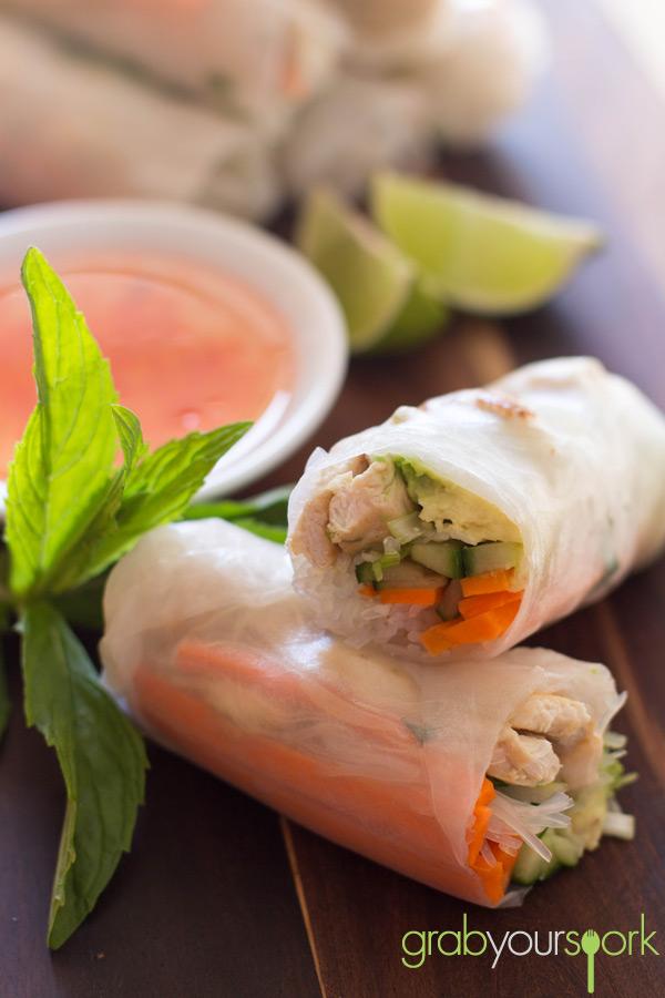 Vietnamese Rice Paper Rolls - Grab Your Spork -2878