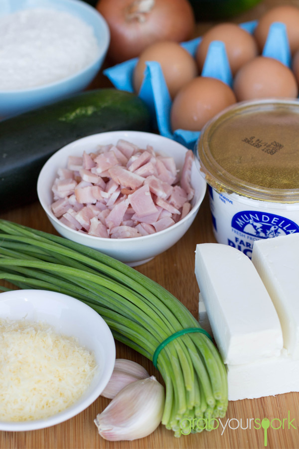 Zucchini and Bacon Slice Ingredients
