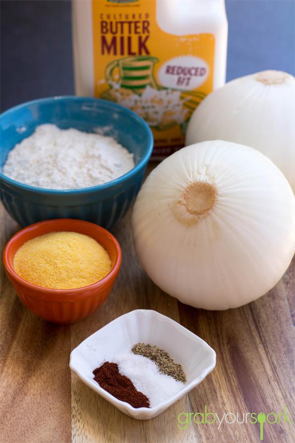 Baked Onion Rings Ingredients