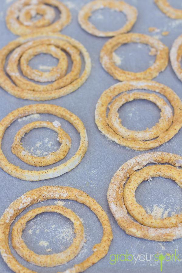 Baked Onion Rings in Batter