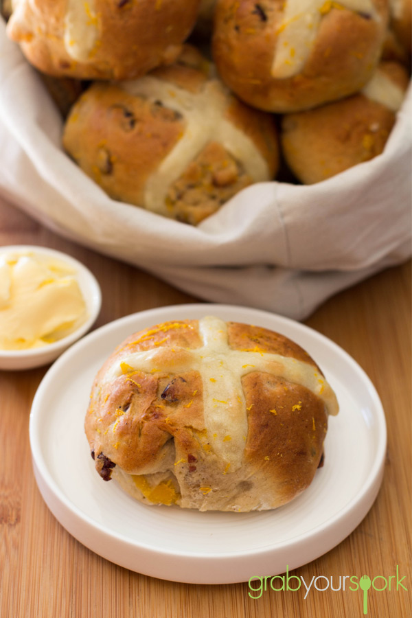 Cranberry and Apricot Hot Cross Buns