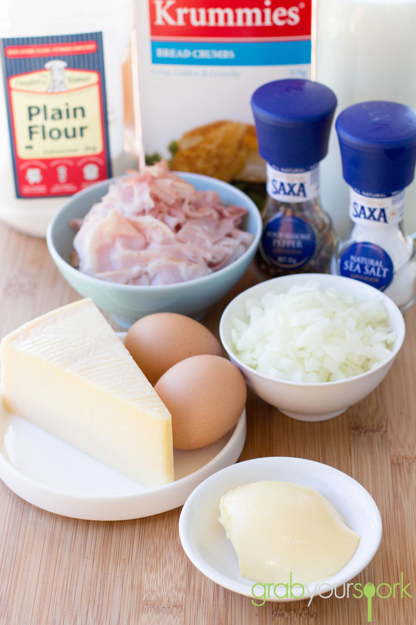 Ham and Cheese Croquettes Ingredients