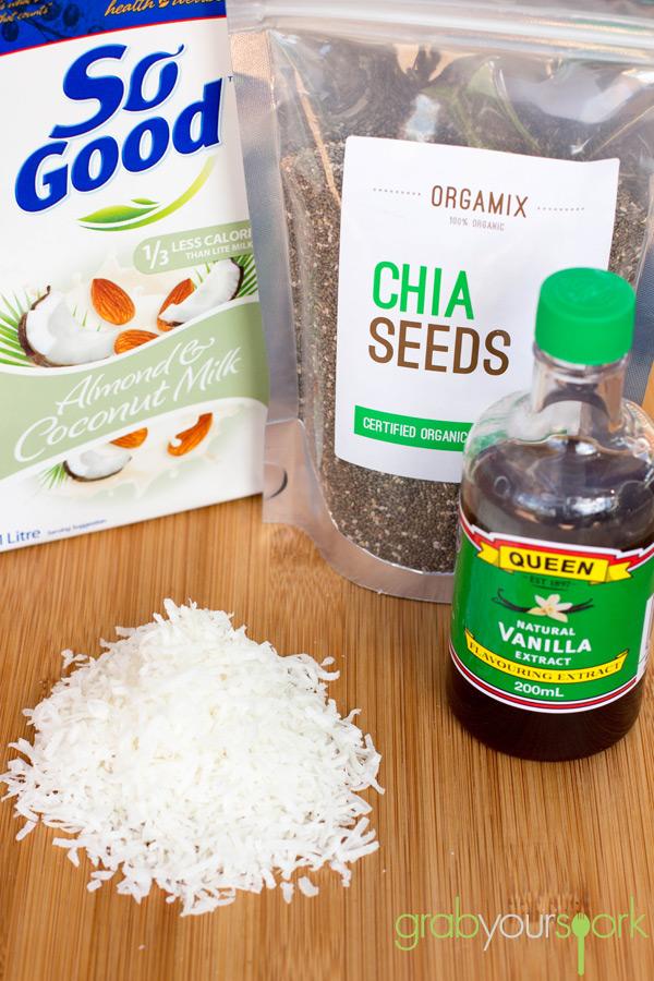 Coconut and Vanilla Chia Pudding