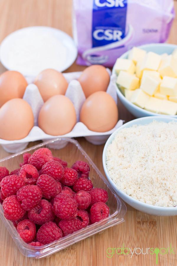 Raspberry Friand Ingredients