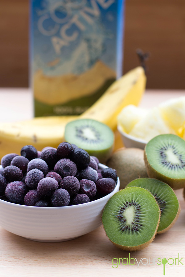 Healthy Purple Smoothie Ingredients