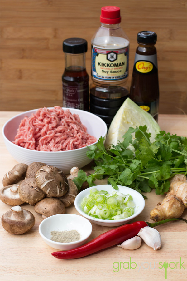 Pork Gyoza Ingredients