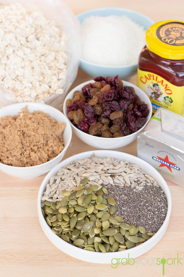Homemade Muesli Bars Ingredients