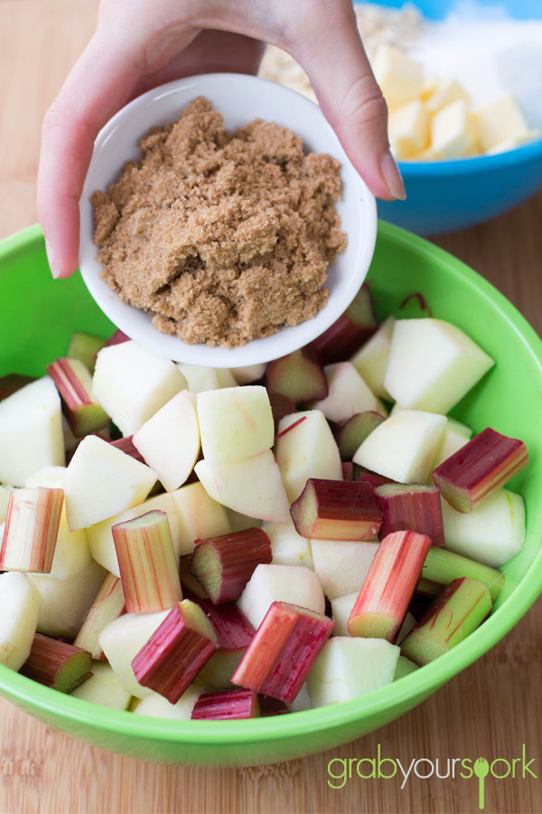 Apple and Rhubarb Crumble Mixture