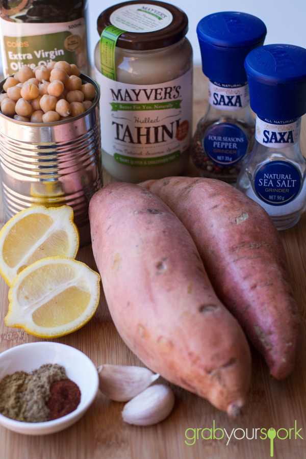 Sweet Potato Hummus Ingredients