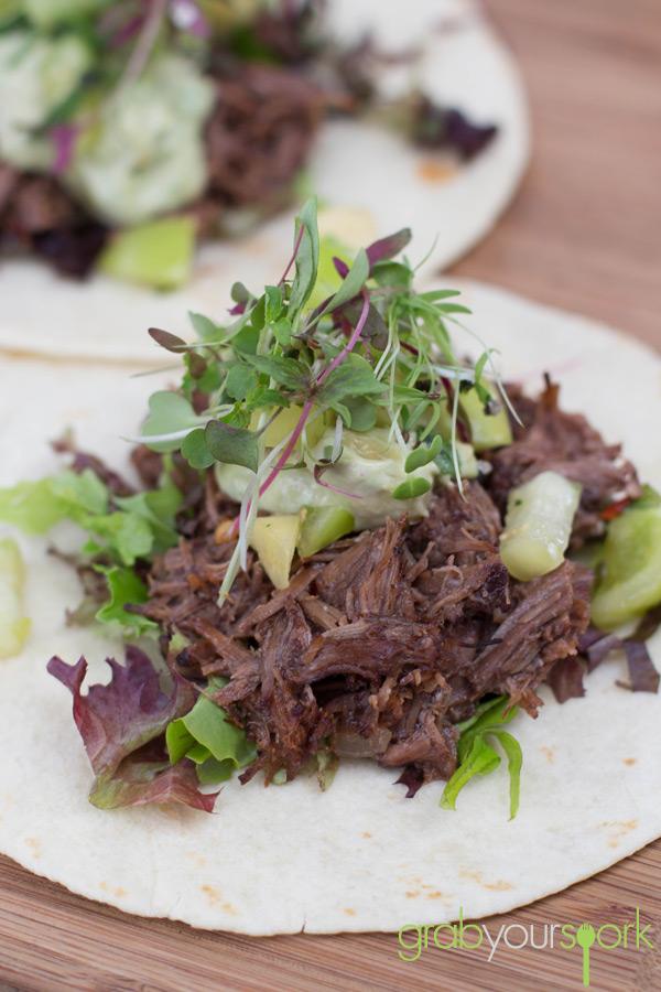 Beef shin tacos Timboon Railway Shed Distillery
