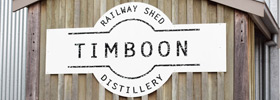 Timber railway shed distillery