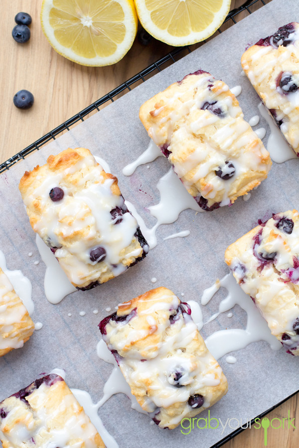 Blueberry and lemon loaves recipe