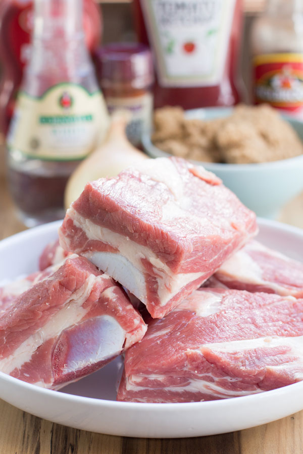 Slow cooker BBQ beef short ribs ingredients