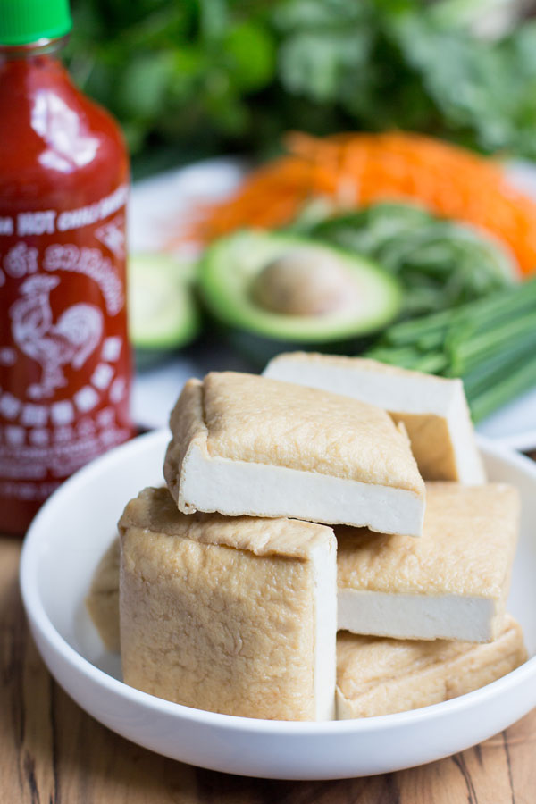 Tofu vegetarian rice paper rolls