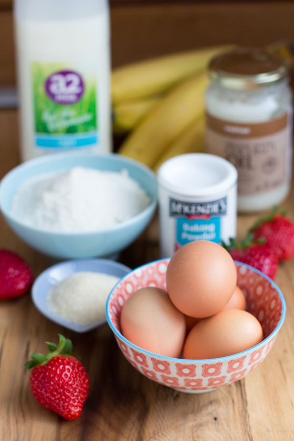 paleo coconut flour pancake ingredients