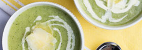 Healthy vegetarian zucchini soup