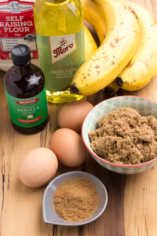 Easy banana bread ingredients